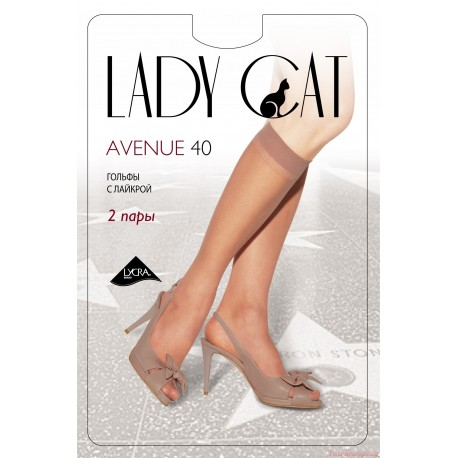 "Гольфы ""Lady Cat"" Avenue 40 ( 2 пары)."